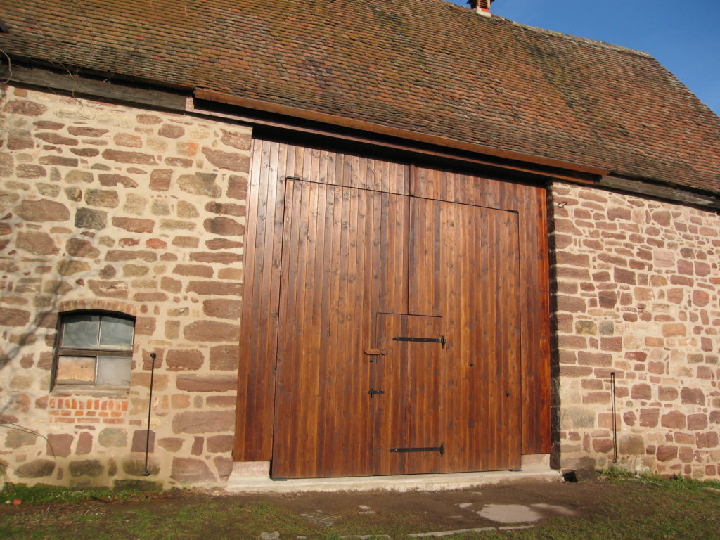 Holzbau Eingangstor Klosterkirche Thalbürgel